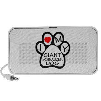 I Love My Giant Schnauzer Dog Portable Speakers