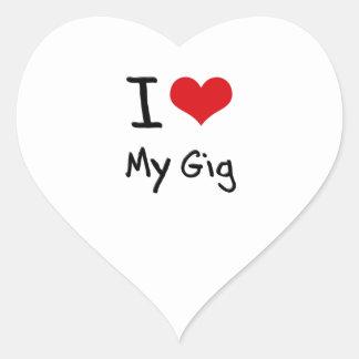 I Love My Gig Heart Sticker