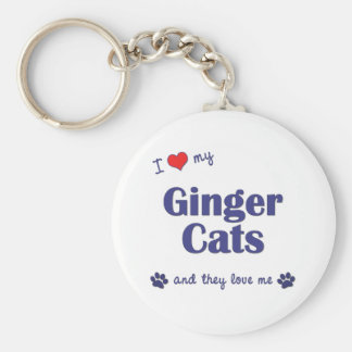 I Love My Ginger Cats (Multiple Cats) Key Ring