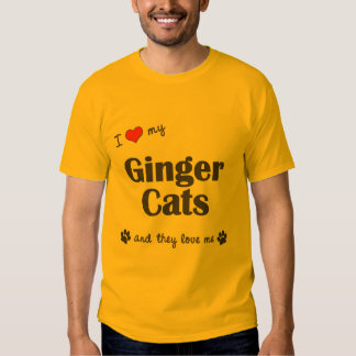 I Love My Ginger Cats (Multiple Cats) Shirts