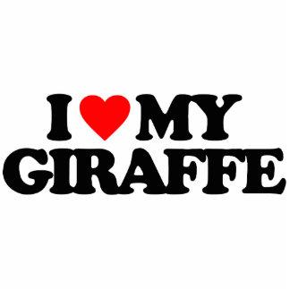 I LOVE MY GIRAFFE CUT OUT