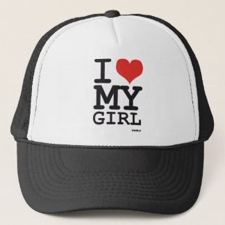 i love my girl trucker hat