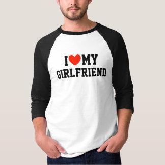 I Love My Girlfriend - 3/4 Sleeve Raglan T Shirts