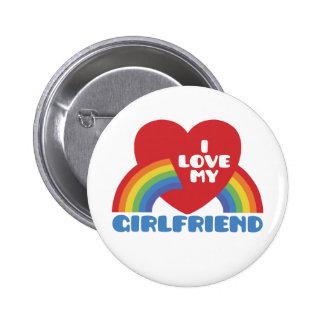 I Love My Girlfriend 6 Cm Round Badge