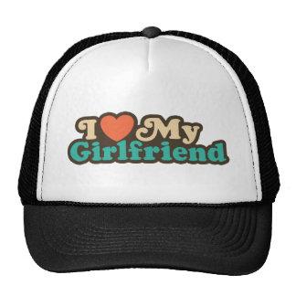 I Love My Girlfriend Trucker Hats