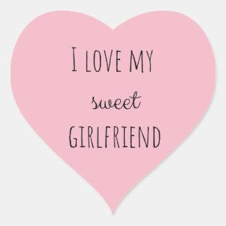 I Love My Girlfriend Heart Sticker