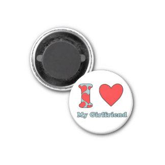 I love my Girlfriend 3 Cm Round Magnet