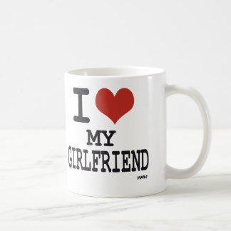 I love my girlfriend classic white coffee mug
