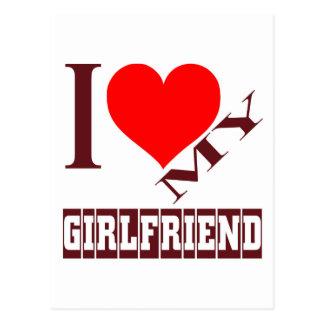 i love my girlfriend. postcard