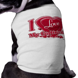 I Love My Girlfriend red - heart Dog Clothing