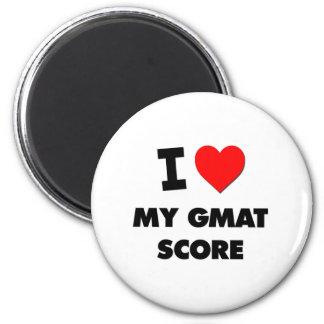 I Love My Gmat Score 6 Cm Round Magnet