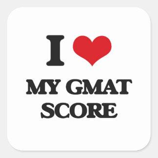 I Love My Gmat Score Square Sticker