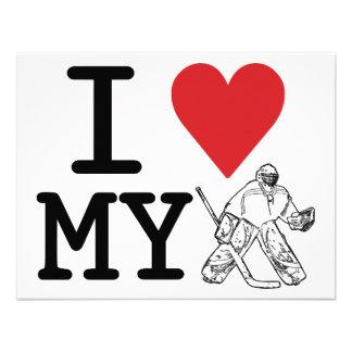 I Love My Goalie Party Invitations hockey
