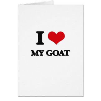 I Love My Goat Greeting Card