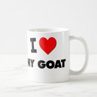 I Love My Goat Coffee Mugs