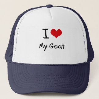 I Love My Goat Trucker Hat