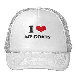 I Love My Goats Trucker Hats