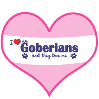 I Love My Goberians (Multiple Dogs) Photo Cut Out