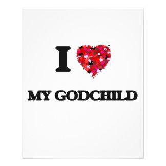 I Love My Godchild 11.5 Cm X 14 Cm Flyer