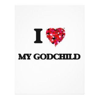 I Love My Godchild 21.5 Cm X 28 Cm Flyer