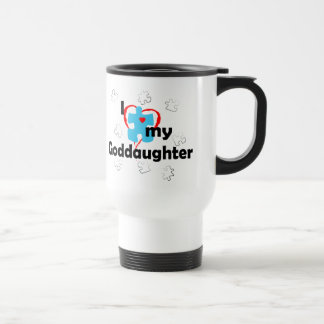 I Love My Goddaughter - Autism Travel Mug