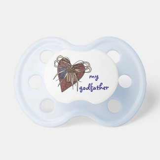 I Love My Godfather Heart Baby Pacifiers