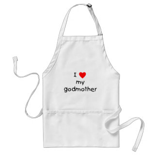 I Love My Godmother Apron