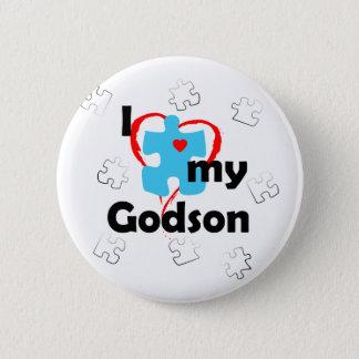 I Love My Godson - Autism 6 Cm Round Badge