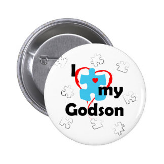 I Love My Godson - Autism 6 Cm Round Badge