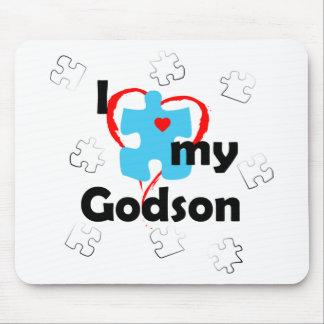 I Love My Godson - Autism Mouse Mat