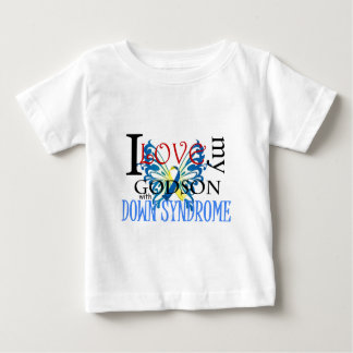 I Love My Godson with Down Syndrome Baby T-Shirt