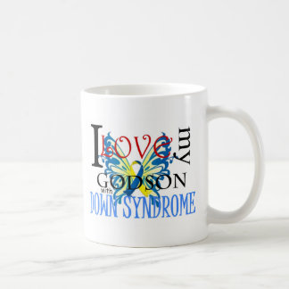 I Love My Godson with Down Syndrome Basic White Mug