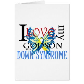 I Love My Godson with Down Syndrome Greeting Card