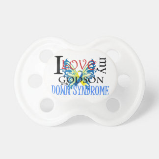 I Love My Godson with Down Syndrome Pacifier