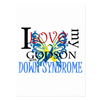 I Love My Godson with Down Syndrome Postcard