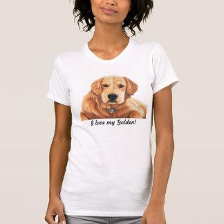 """I Love my Golden!"" Golden Retriever Dog Lover Tee"