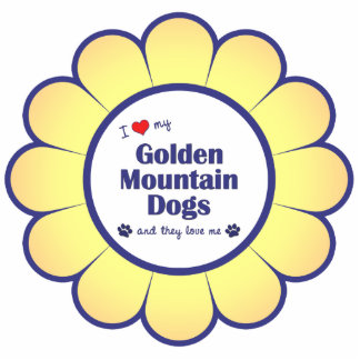I Love My Golden Mountain Dogs (Multiple Dogs) Photo Sculpture Decoration