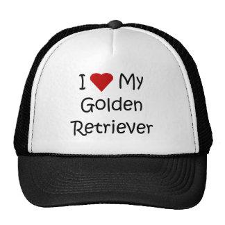 I Love My Golden Retriever Dog Lover Gifts Hat