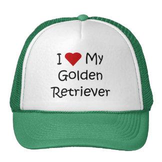 I Love My Golden Retriever Dog Lover Gifts Mesh Hats