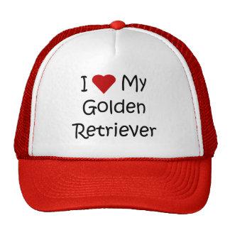I Love My Golden Retriever Dog Lover Gifts Trucker Hats