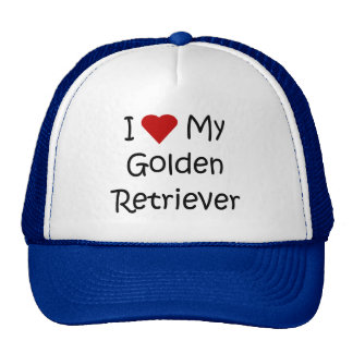 I Love My Golden Retriever Dog Lover Gifts Hats