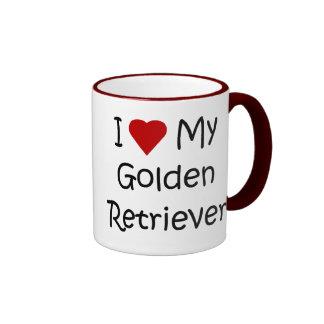 I Love My Golden Retriever Dog Lover Gifts Mug
