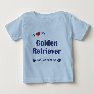 I Love My Golden Retriever (Female Dog) Baby T-Shirt
