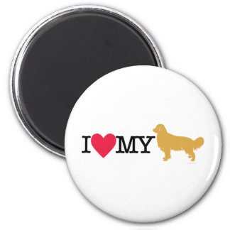 I Love My Golden Retriever ! Magnet