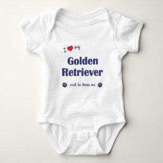 I Love My Golden Retriever (Male Dog) T-shirts