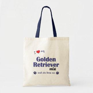 I Love My Golden Retriever Mix (Female Dog) Budget Tote Bag