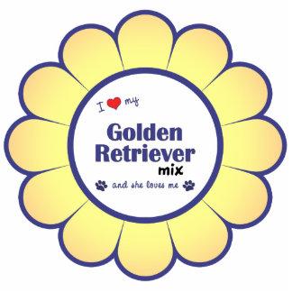 I Love My Golden Retriever Mix (Female Dog) Photo Sculpture Decoration