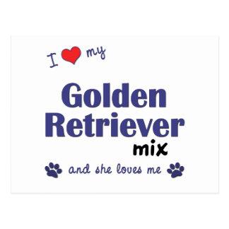I Love My Golden Retriever Mix (Female Dog) Postcard