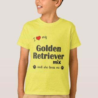 I Love My Golden Retriever Mix (Female Dog) Shirt