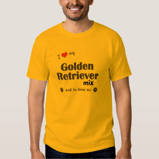 I Love My Golden Retriever Mix (Male Dog) Tshirts